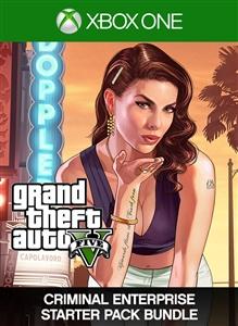 Carátula del juego Lote de Grand Theft Auto V y Criminal Enterprise Starter Pack