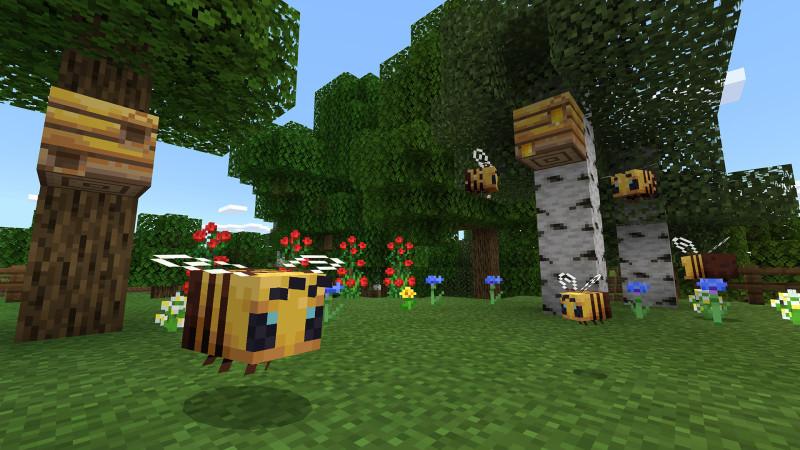 abejas en Minecraft