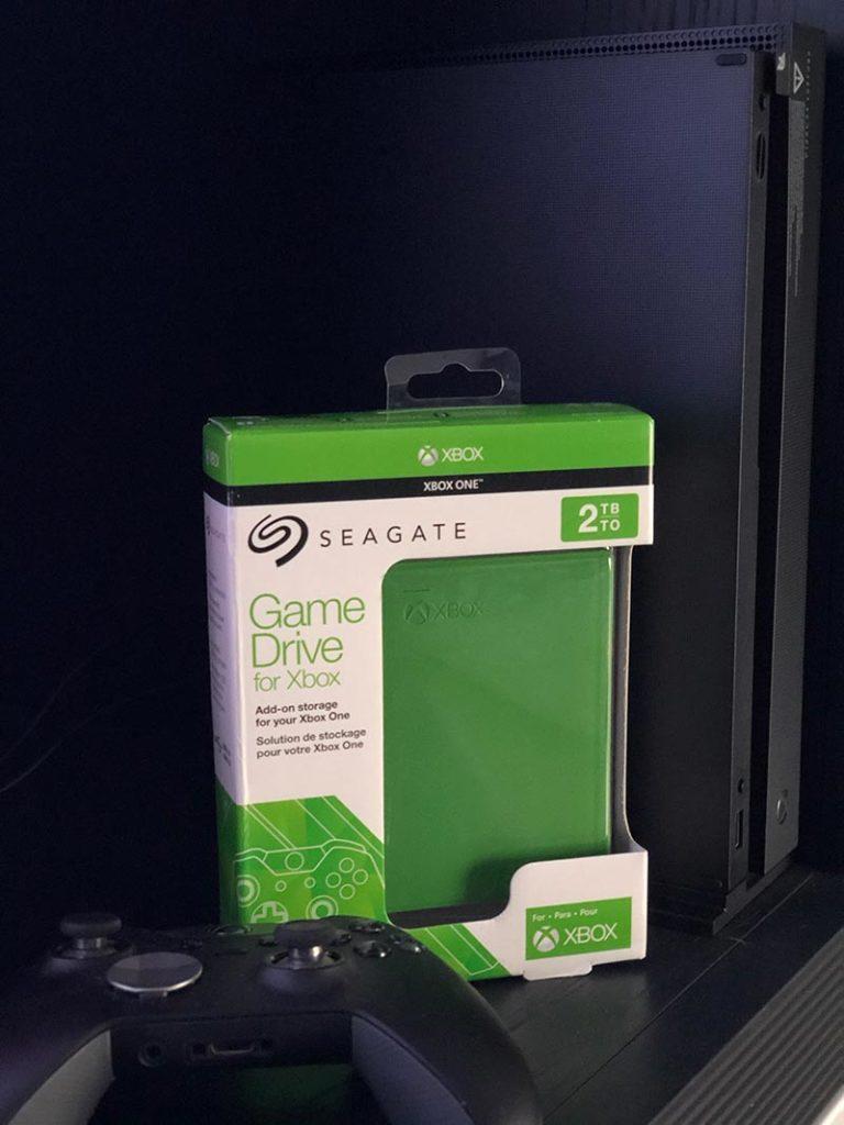 Foto del disco duro Seagate especial para Xbox One