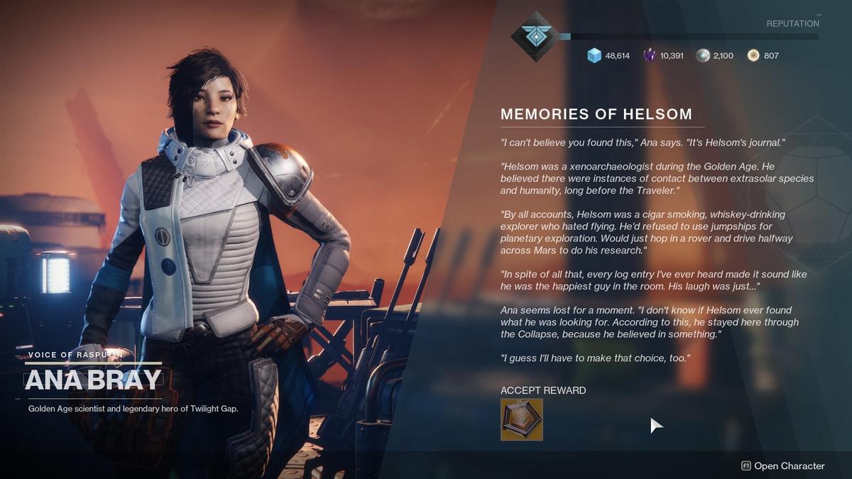 destiny 2 tributo Helsom
