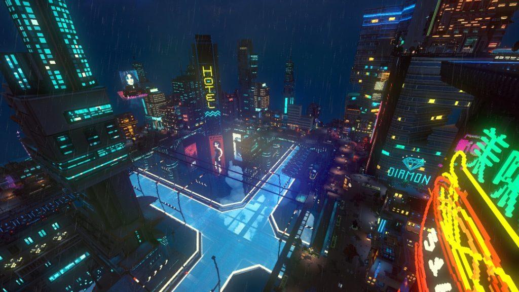 Cloudpunk captura ciudad