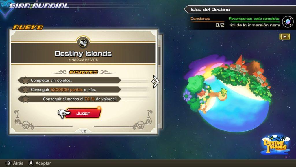 KINGDOM HEARTS Melody of Memory Destiny Islands
