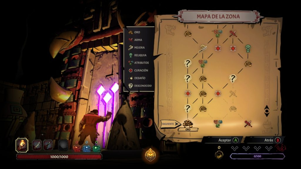 Curse of the Dead Gods mapa