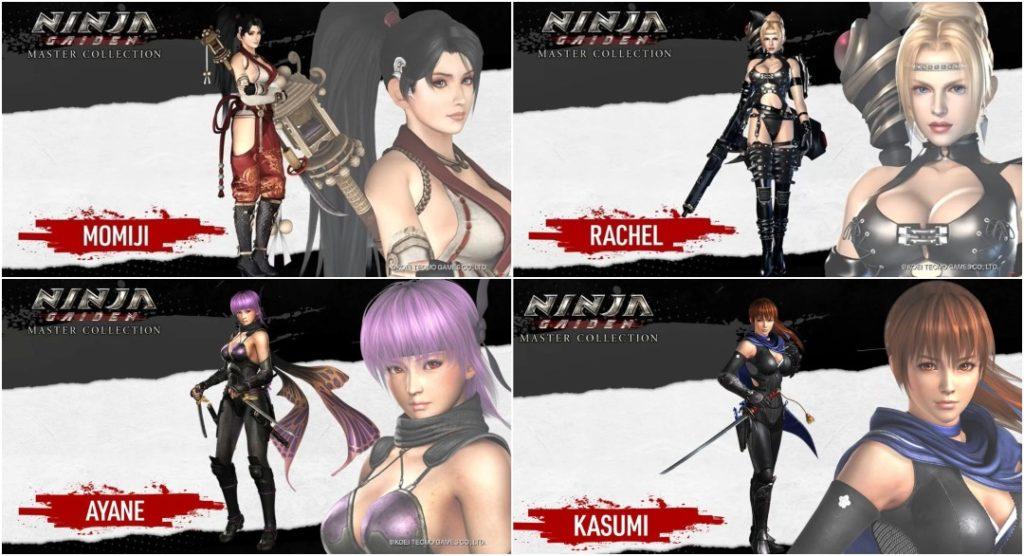 Personajes Ninja Gaiden