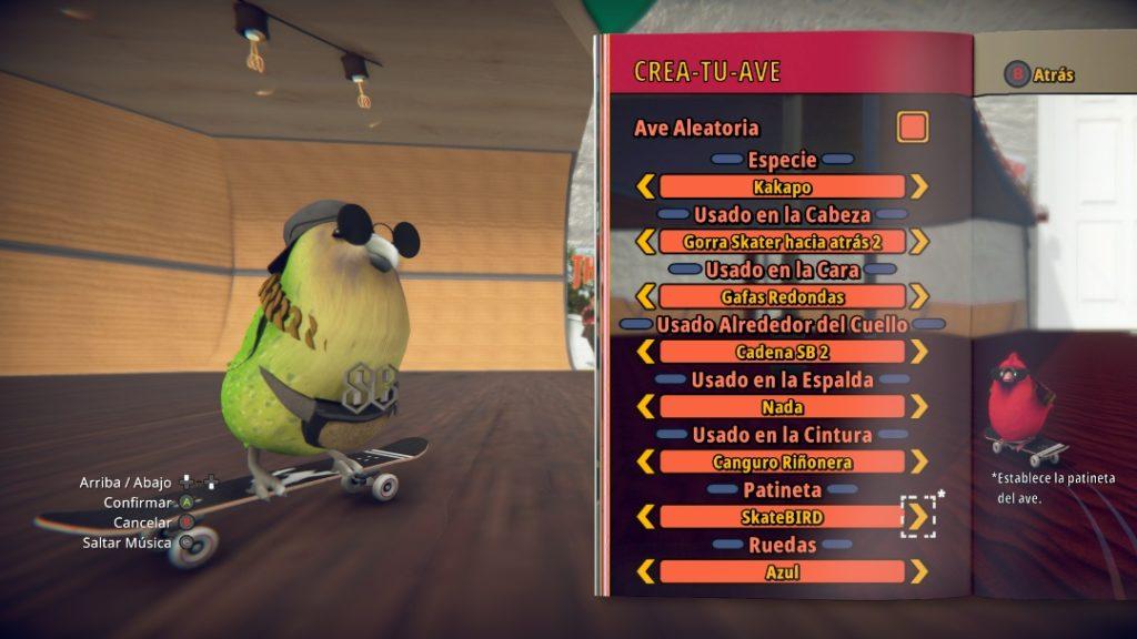 SkateBIRD editor