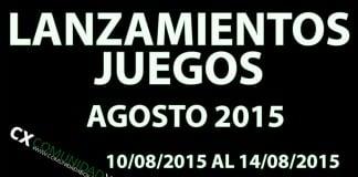 Lanzamientos Agosto 2015