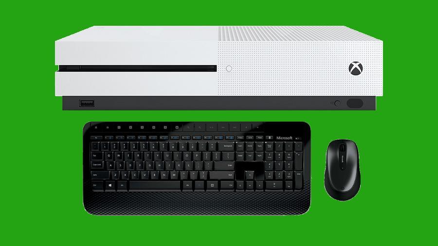 Xbox One con teclado y ratón