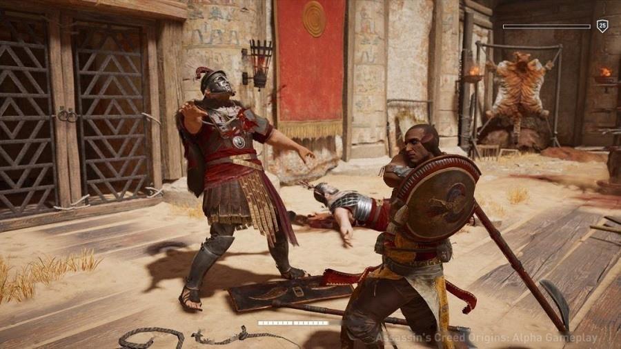 Assassin's Creed Origins muestra su modo Gladiator Arena Krokodilopolis