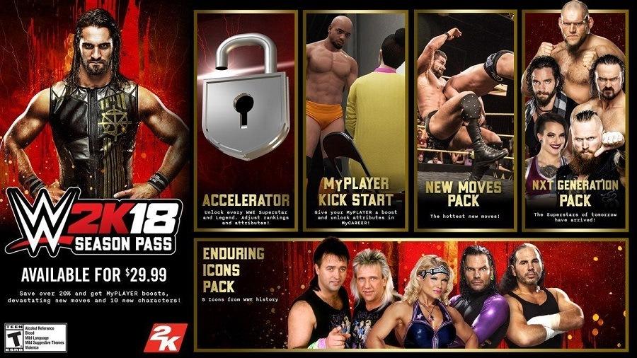 WWE 2K18 Game Pass Season Pass DLC
